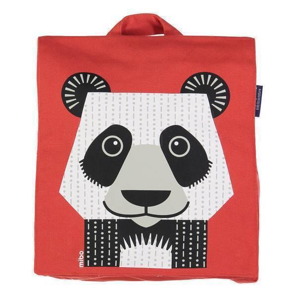 Coq En Pâte - Sac à dos coton bio Panda rouge 23cm