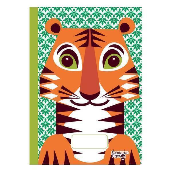 Coq En Pâte - Cahier d'écriture et dessin A5 Tigre 48 pages
