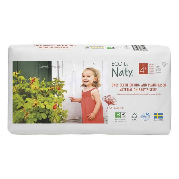 Eco by Naty - 42 Couches écologiques - Taille 4+, 9-20 kg
