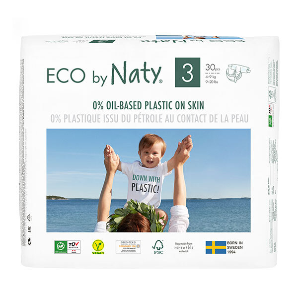 Eco by Naty - 50 Couches écologiques - Taille 3, 4-9 kg