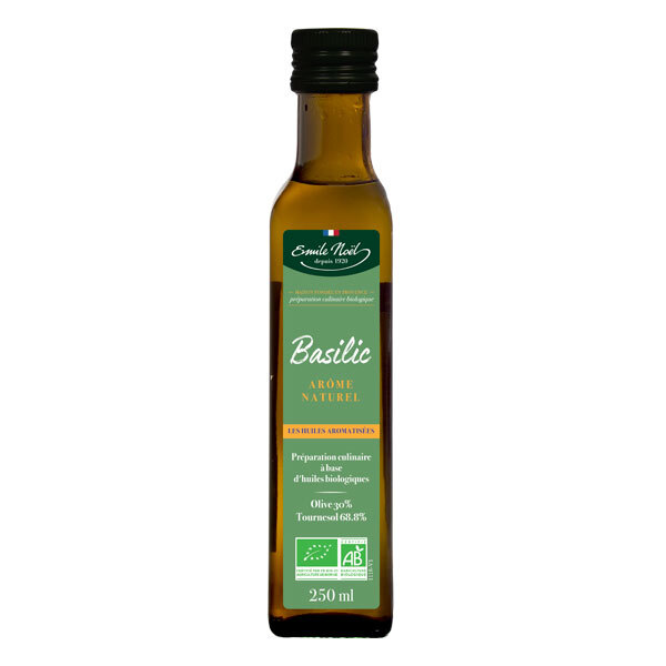 Emile Noel - Huile aromatisée basilic 25cl