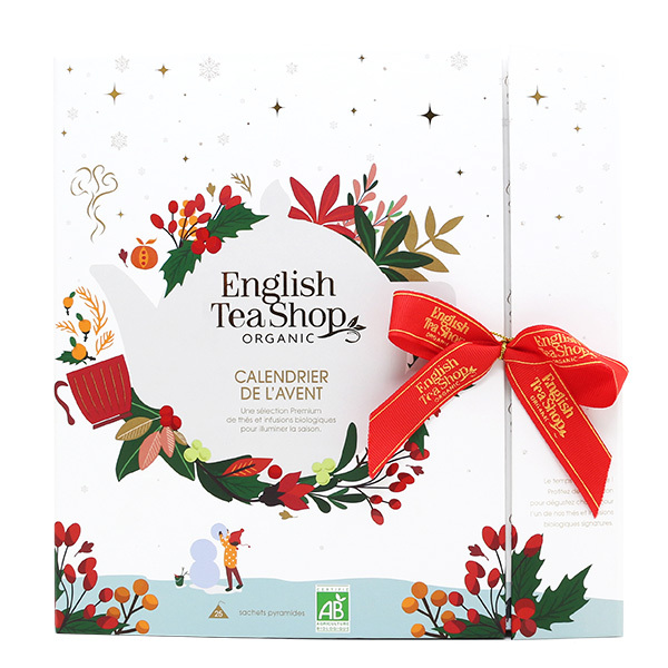 English Tea Shop - Calendrier de l'Avent blanc thés & infusions 13 mélanges
