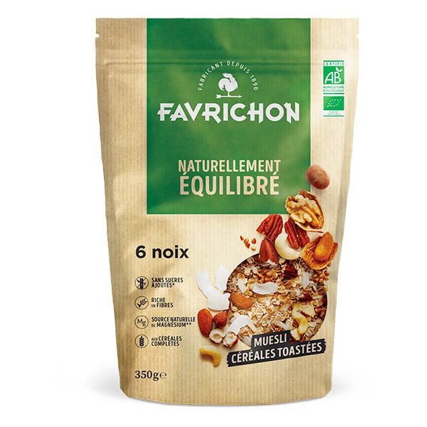 Favrichon - Muesli céréales toastées 6 noix 350g