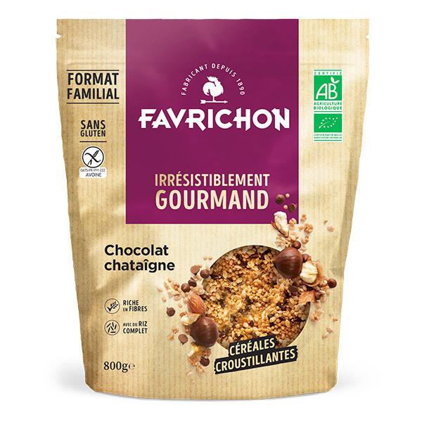 Favrichon - Muesli croustillant chocolat châtaigne sans gluten 800g