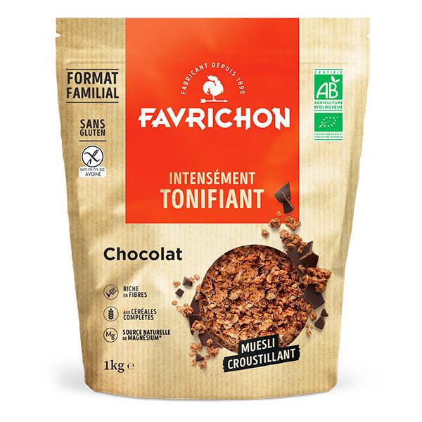 Favrichon - Muesli croustillant chocolat sans gluten 1kg