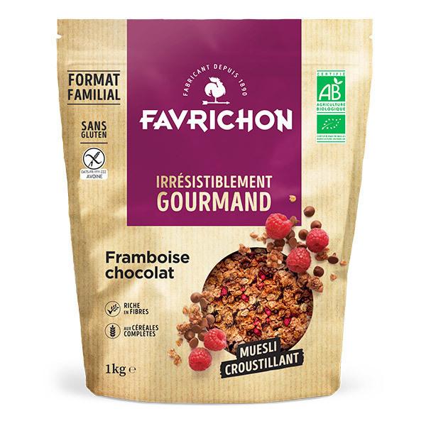 Favrichon - Muesli croustillant framboise chocolat sans gluten 1kg