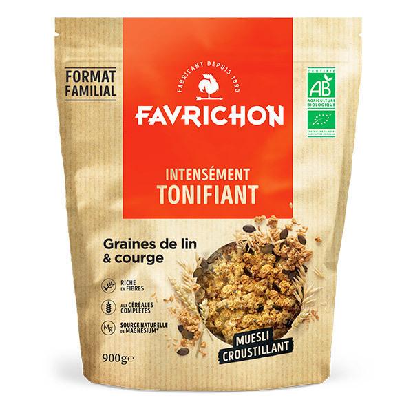 Favrichon - Muesli croustillant lin & graines de courge 900g