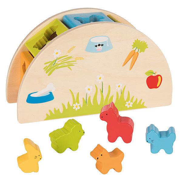 Goki - Boîte à formes Qui mange quoi? - dès 12 mois