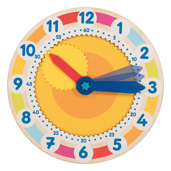 Goki - Horloge d'apprentissage avec engrenage - dès 5 ans