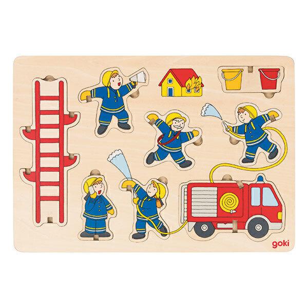 Goki - Puzzle à empiler Pompiers - dès 2 ans
