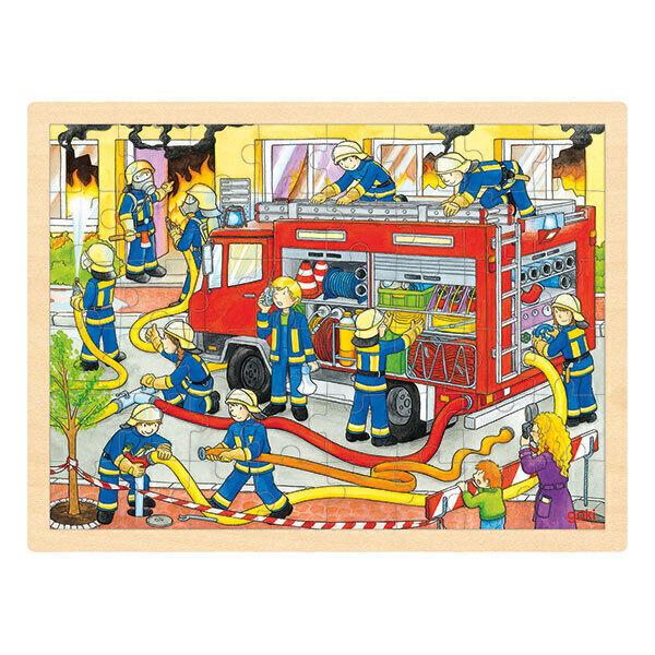 Goki - Puzzle Brigade de pompiers - dès 3 ans