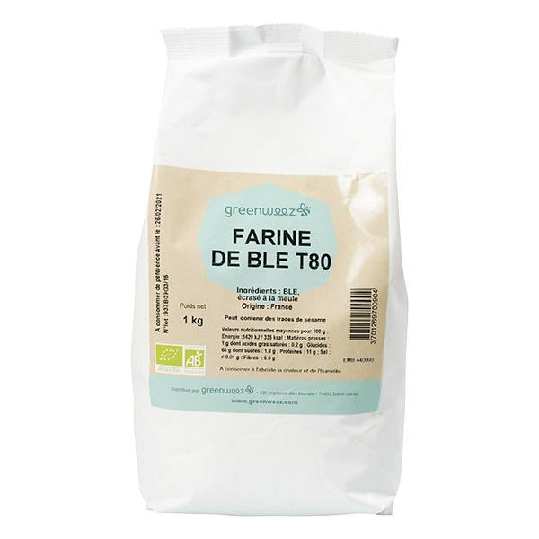 Greenweez - Farine de blé T80 meule bio France 1kg