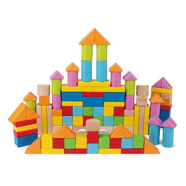 Hape - Baril de 100 cubes - Dès 12 mois
