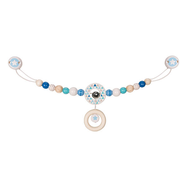 Heimess - Décoration pour poussette avec clips étoile bleu clair
