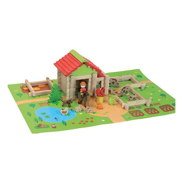 Jeujura - Ma première petite ferme en bois 80 pièces - Dès 3 ans
