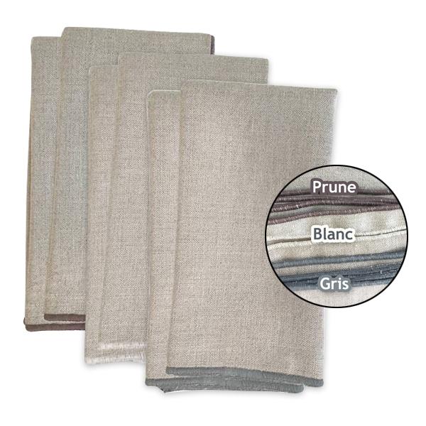 Koshi - Lot de 6 serviettes de table 35 x 35cm