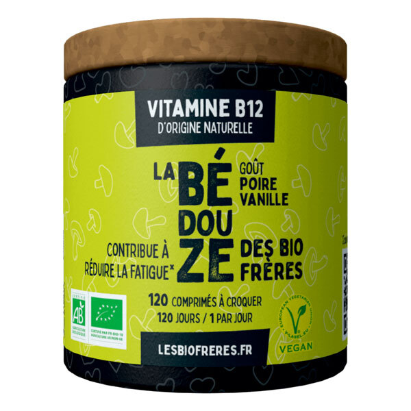 Les Bio Frères - La Bédouze goût poire vanille 120 comprimés à croquer