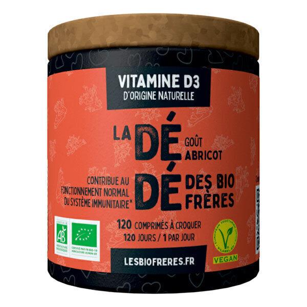Les Bio Frères - Vitamine D3 Dédé goût abricot 120 comprimés à croquer