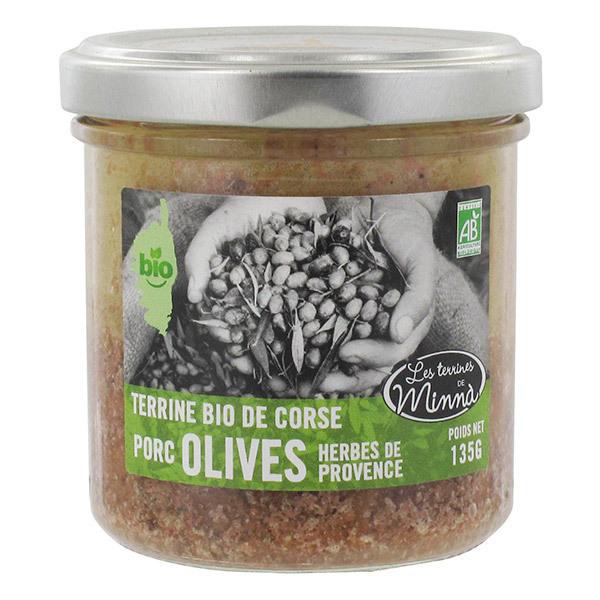 Les spécialités de Minnà - Terrine aux olives et herbes de Provence 135g