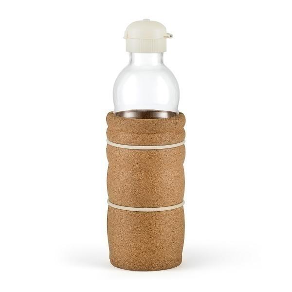 Nature's Design - Gourde en verre Thank You manchon liège 70cl