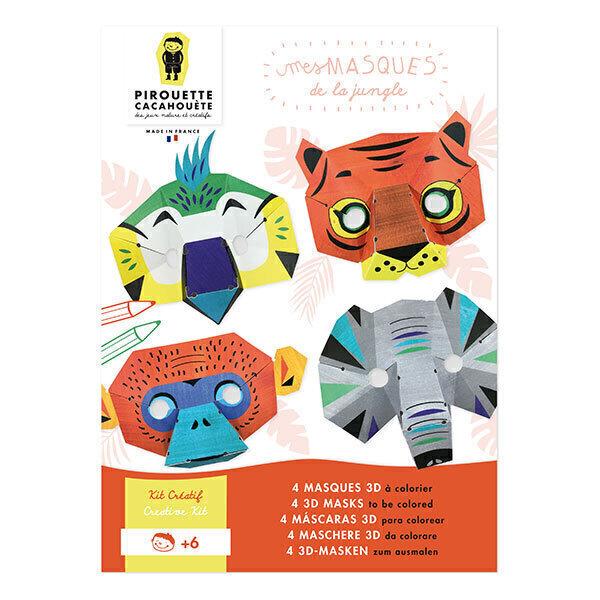 Pirouette cacahouete - Kit créatif masques Animaux de la Jungle - Dès 6 ans