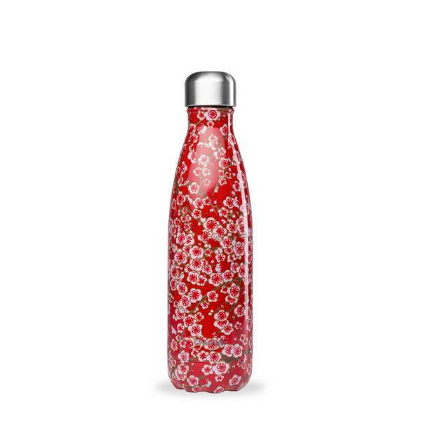 Qwetch - Bouteille isotherme inox Flowers Rouge 50cl