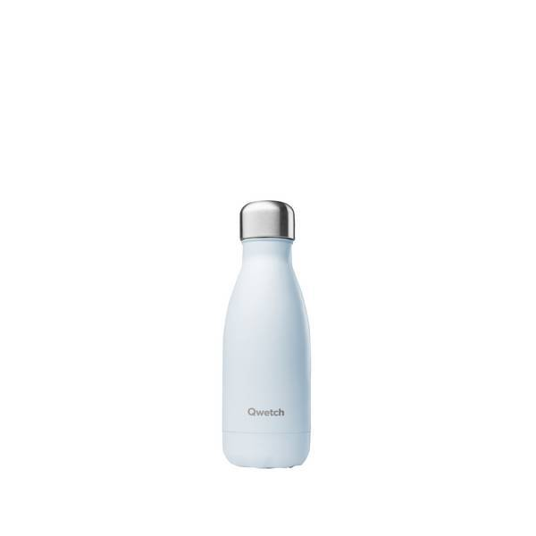 Qwetch - Bouteille isotherme inox Pastel Bleu 26cl