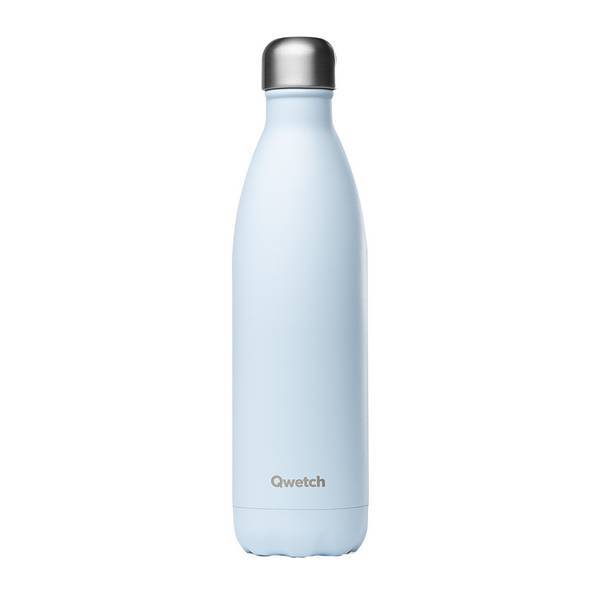 Qwetch - Bouteille isotherme inox Pastel Bleu 75cl