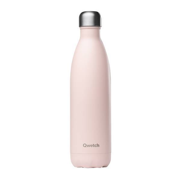Qwetch - Bouteille isotherme inox Pastel Rose 75cl