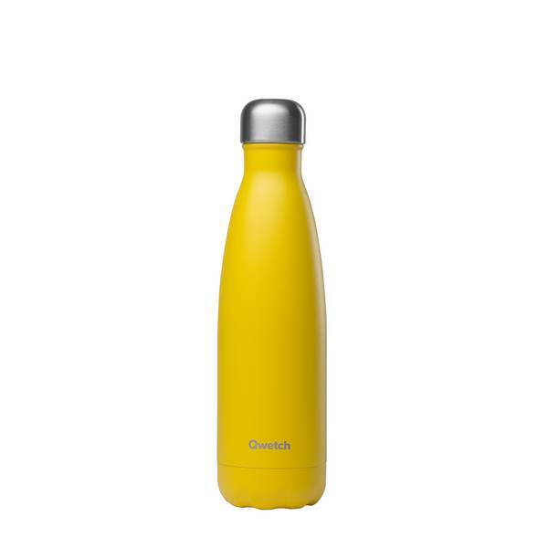Qwetch - Bouteille isotherme inox Pop Jaune 50cl