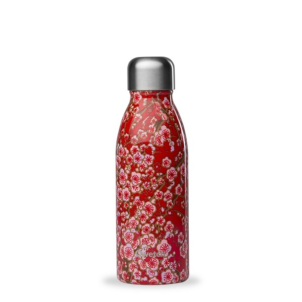 Qwetch - Bouteille simple paroi inox One Flowers rouge 50cl