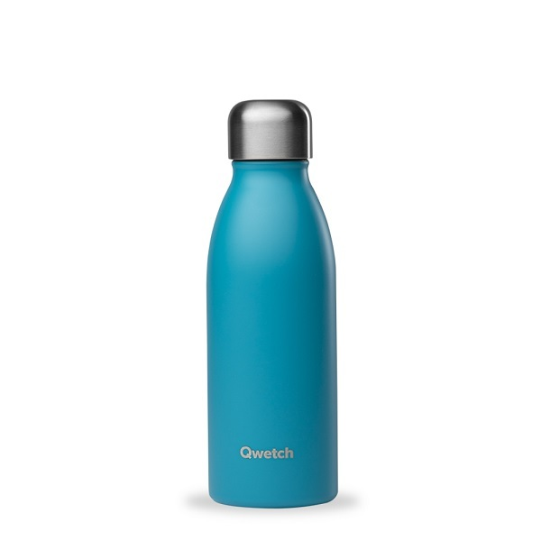 Qwetch - Bouteille simple paroi inox One Turquoise 50cl