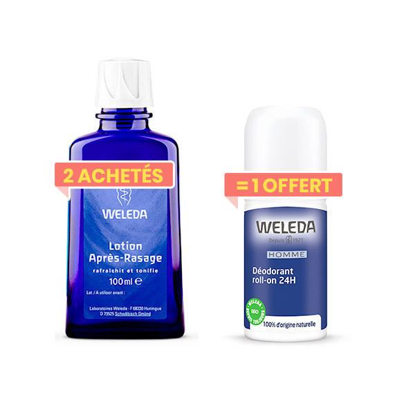 Weleda - 2 Lotions après-rasage 100ml + 1déodorant roll-on Homme offert