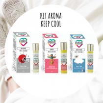 Aromade with love - Kit Keep Cool - 3 Roll'on aux huiles essentielles