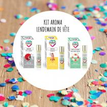 Aromade with love - Kit Lendemain de Fête - 3 Roll'on aux huiles essentielles