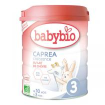 Babybio - Lot de 6xLait de chèvre infantile bio 3ème âge 800g -10m à 3
