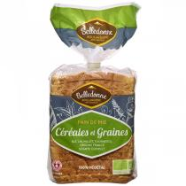 Belledonne - Pain de mie Céréales et graines 500g