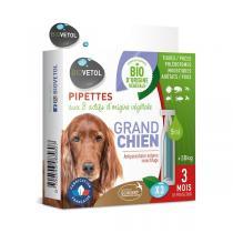 Biovetol - Etui de 3 pipettes antiparasitaires grand chien Bio 5ml