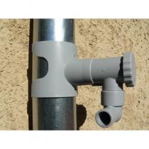 Capt'eau - Récupérateur d'eau de pluie pour gouttière ronde Gris
