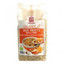Celnat - Granola aux fruits abricots pommes 375g