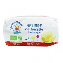 Grandeur Nature - Beurre de baratte moule demi sel 250g