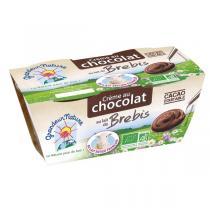 Grandeur Nature - Crème dessert chocolat au lait de brebis 2x100g