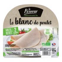 """Le Picoreur - Blanc de Poulet tranché """"Sans Sel Nitrité """" 80g"""