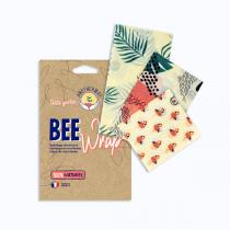 Anotherway - Lot de 3 emballages réutilisables - Tropical