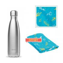Qwetch - Pack Bouteille isotherme Originals Inox 50cl et Furoshiki offert