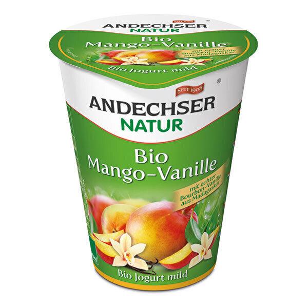 Andechser Natur - Yaourt mangue vanille 400g
