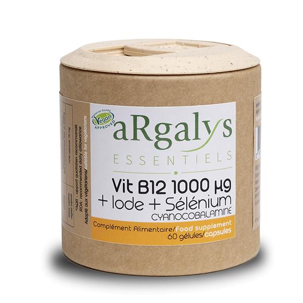 Argalys Essentiels - Vitamine B12 1000 µg + iode + sélénium - 60 gélules