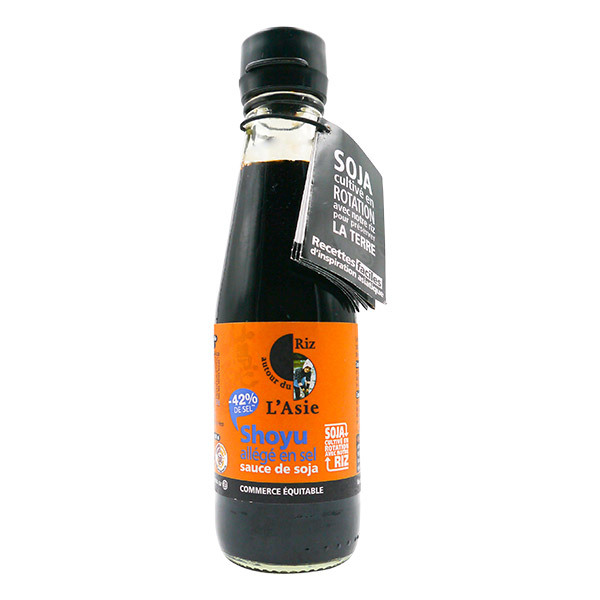 Autour du Riz - Sauce Shoyu soja allégé en sel 200ml