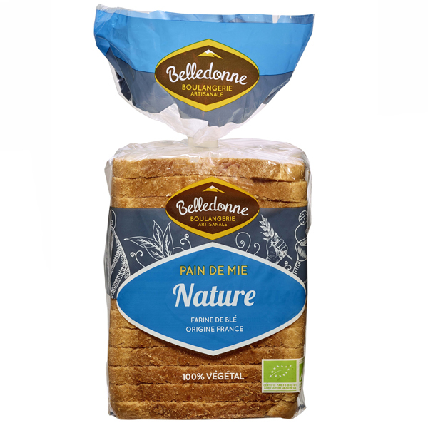 Belledonne - Pain de mie Nature 500g