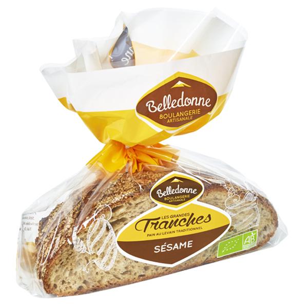 Belledonne - Pain Sésame tranché 400g